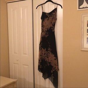 BCBG silk floral dress